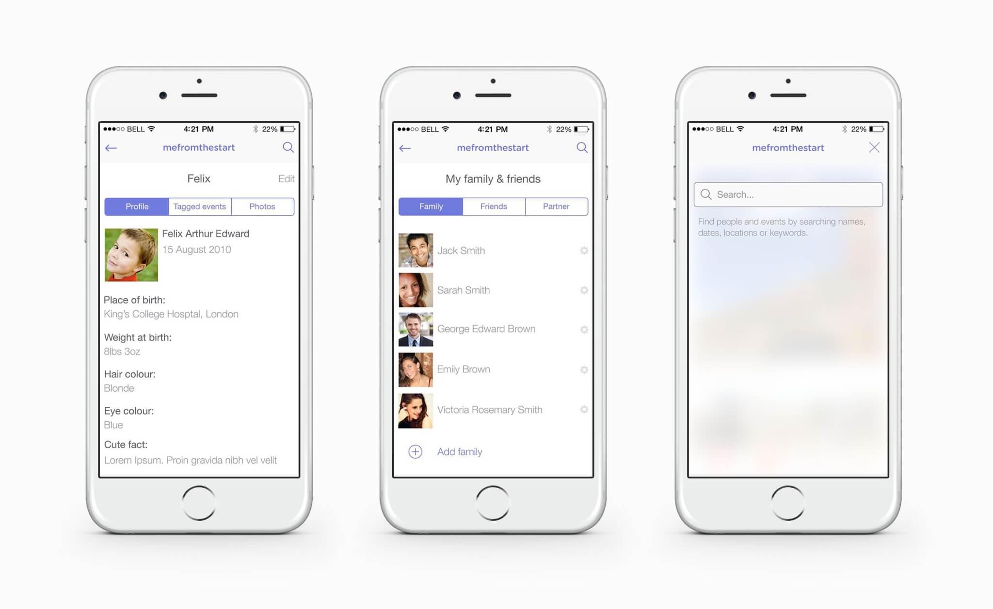 Logo and mobile app design for social startup based in London